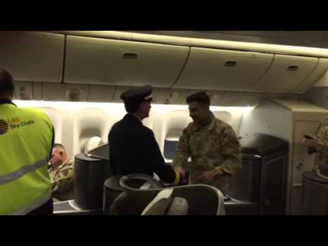 A Soldier Came Home from Being Deployed, and His Dad Was the Pilot on the Flight