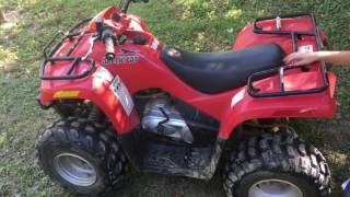 2. Ozi riding his new ATV! Arctic Cat 90!