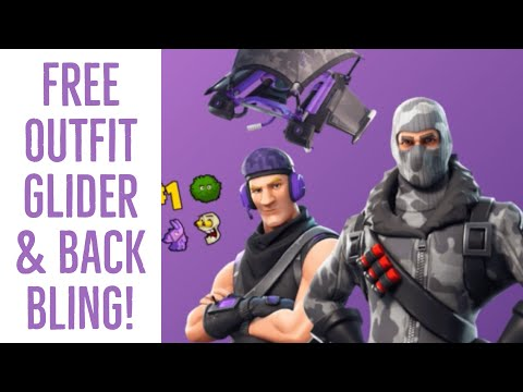 FREE FORTNITE OUTFITS GLIDER AND BACK BLING!  TWITCH PRIME FORTNITE PACK! FORTNITE BATTLE ROYALE!