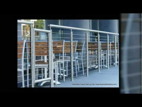 STAINLESS STEEL RAILING system VERY SEXY with Cable Railing Hyatt Project cost- $8500