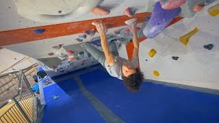 Climbing In The Tunnel With Axel! by Eric Karlsson Bouldering