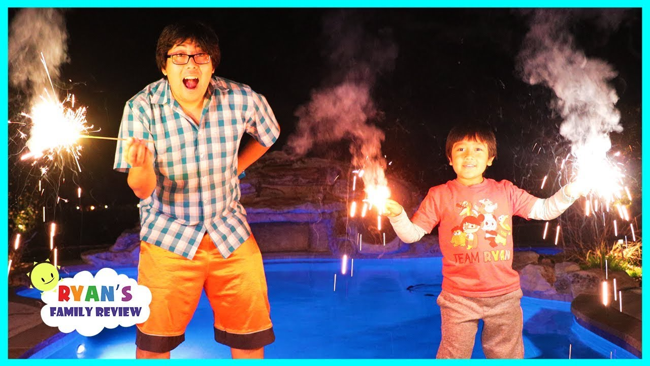 Happy New Year Fireworks Family Fun Celebration with Ryan's Family Review - YouTube