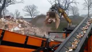 Doppstadt DW3060 type D slow speed shredder producing in spec material in single pass