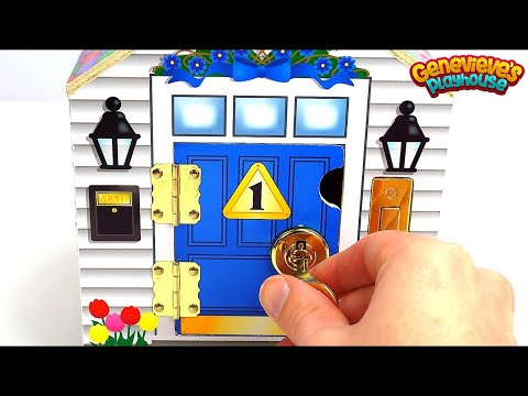 Best Learning Video for Kids: Toy Dollhouse w/ Locking Doors and Keys Helps Teach Colors & Counting!