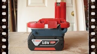 Bosch Lithium Ion 18v Battery Adaptor NiMH Power Tool vs NiCd NiCad Li Drill Planer Jigsaw Driver