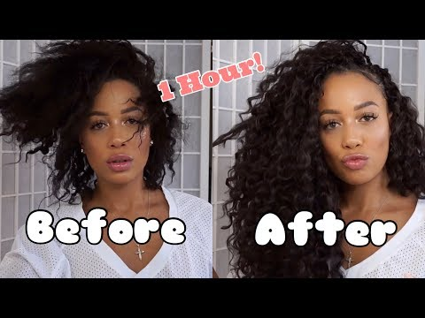 Quick Crochet Install 1 Hour Hair Transformation Anyone Can Do! Trendy Tresses