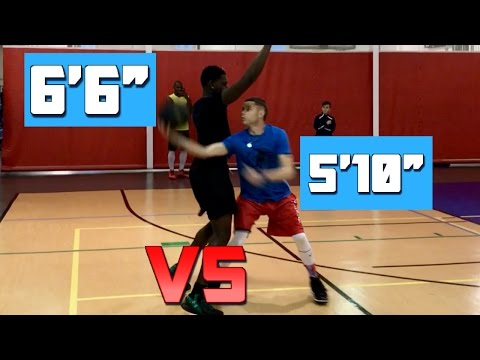 "The Professor vs. 6'6"" basketball player"