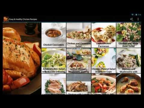 Easy & Healthy Chicken Recipes Mobile App for Android Devices