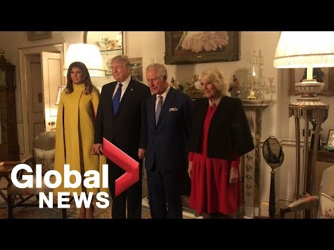Donald and Melania Trump meet Prince Charles and Camilla