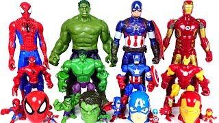 Marvel Avengers bigger and smaller transform! Hulk, Spider Man, Iron Man rush! - DuDuPopTOY