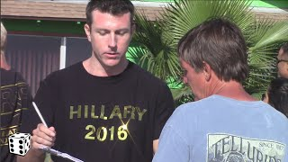 Hillary Clinton supporters are asked to sign a petition to approve of