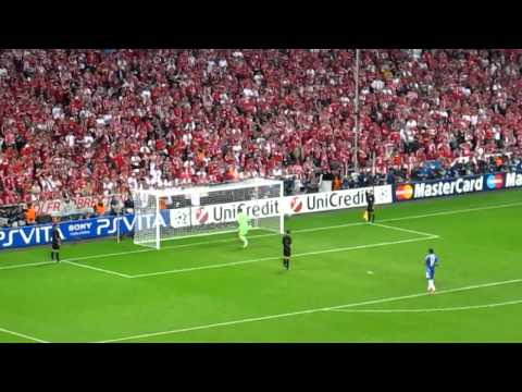 Champions League Final 2012 - Chelsea vs Bayern Munich climax of penalty shootout