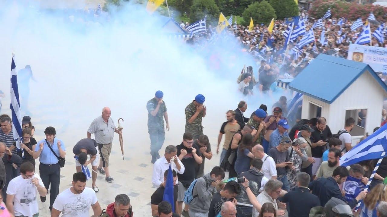 Μικρής έκτασης επεισόδια στο συλλαλητήριο στο Σύνταγμα για την συμφωνία ονομασίας της  πΓΔΜ