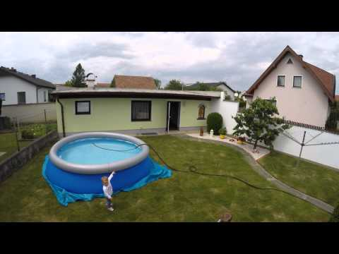 Bestway Fast Set Pool 366x91cm -  Set Up (Timelaps)