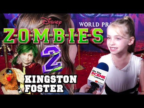 ZOMBIES 2 - Kingston Foster Interview - Zoey Necrodopolous - Disney - Milo Manheim Meg Donnelly