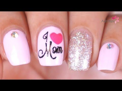 Diseños de uñas - Truco para estampar - Uñas por el Día de la Madre