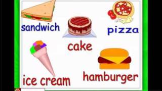 Food and eating, hamburger, ice cream, chocolate, ESL Kids Lessons