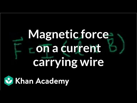0 magnetic force on a current carrying wire (video) khan academy the diagram shows the cross section of a wire carrying conventional positive current at nearapp.co