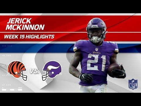 Video: Jerick McKinnon's 114 Yards Receiving vs. Cincy! | Bengals vs. Vikings | Wk 15 Player Highlights