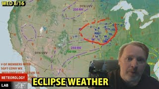 This cloud forecast is independently prepared and I look at no other eclipse charts before creating it, so feel free to compare it to some of the other sources out there.  I believe Washington Post Capitol Weather Gang is doing a similar map, and AccuWeather has also been doing eclipse maps.Tim Vasquez (former Air Force / Air Weather Service meteorologist) shows you how to forecast weather starting with the basics.  This is a nightly weathercast focused on where weather is happening.  You don't need to be an expert.