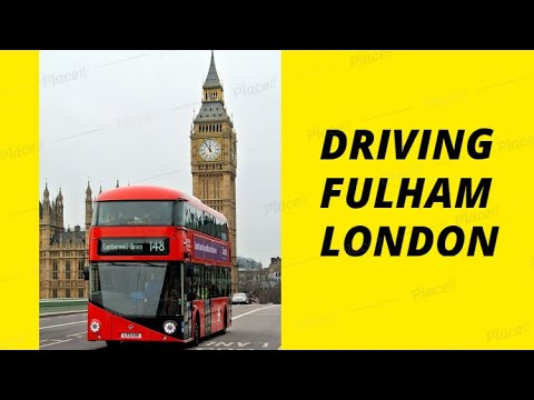 Driving In Fulham Road London UK Route Tour Bus Ride 2018