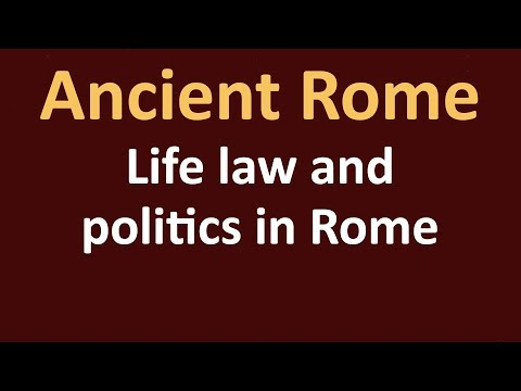Ancient Rome History - Life law and politics