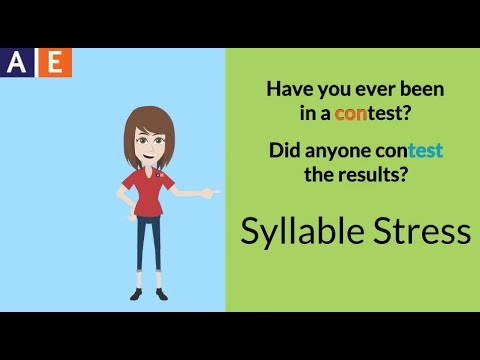 Syllable Stress: Patterns for Two-Syllable Words