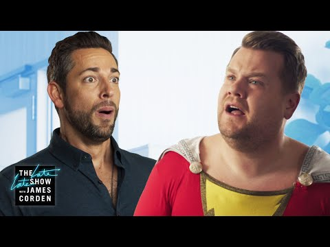 Zachary Levi Brings Out James's Inner-Shazam