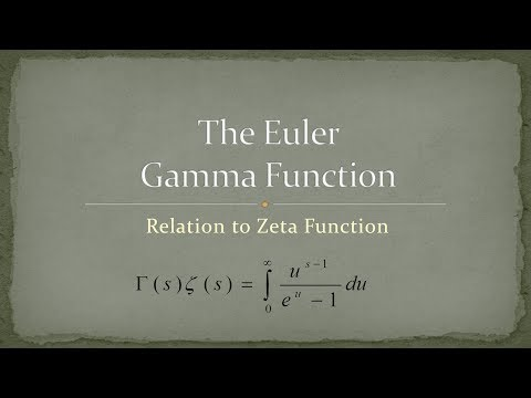 Gamma Function - Part 12 - Relation to Zeta Function (видео)