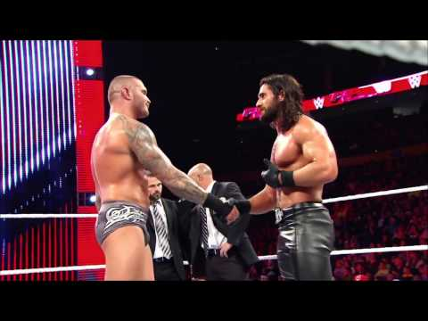 Video Randy Orton and Seth Rollins engage in a vicious back-and-forth download in MP3, 3GP, MP4, WEBM, AVI, FLV January 2017