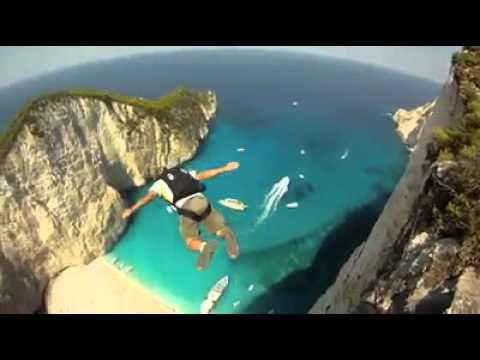 Base Jumping at Navagio Beach