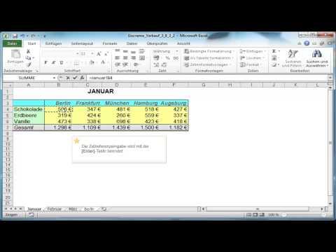 Excel: Zellbezüge aus anderen Tabellenblättern
