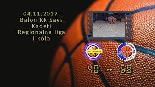 kk flash2 kk sava2 40 69 (kadeti 2, 04 11 2017 ) košarkaški klub sava