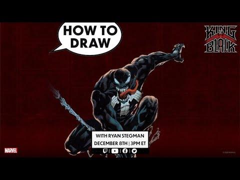 How to Draw VENOM w/ Ryan Stegman!   Marvel Comics