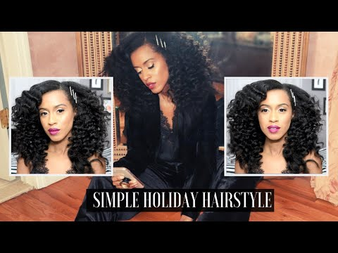 Simple Holiday Hairstyle   Wand Curls without heat   Kelsley Nicole