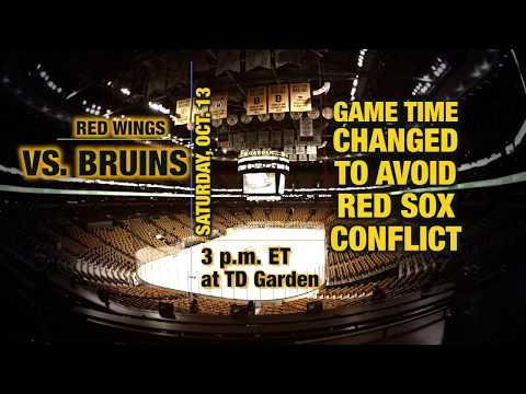 Video: Bruins vs. Red Wings Game Preview