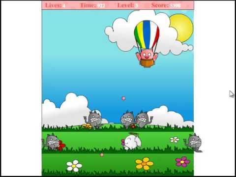 Флэш игра для детей Воздушный шар, сыграй бесплатно онлайн
