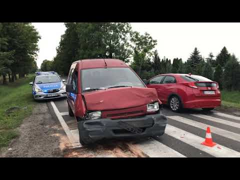 Wideo: Kolizja przy Ścinawskiej w Lubinie