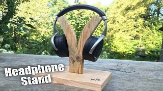 in this video we are making a cool headphone stand from some scrap wood we found at home.