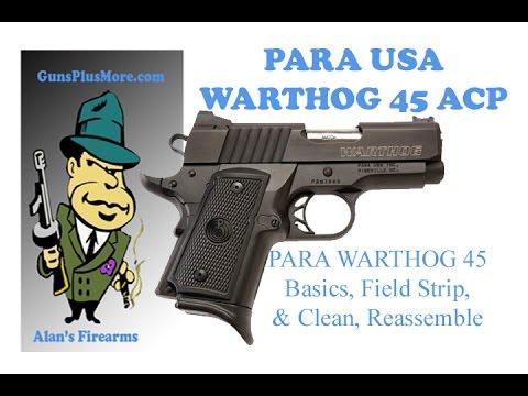 Para USA 1911 Warthog,  Field strip, clean, and Reassemble plus the basics