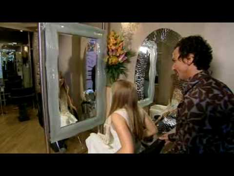 hairdresser - Stuart Phillips £20000 hair package was such a world success that two different German TV stations filmed him at work. This news footage was filmed by RTL TV...