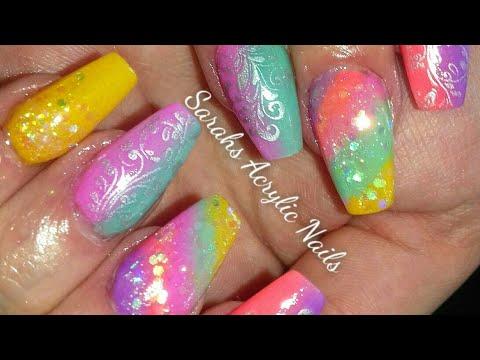 Bright Summer Acrylic Nails