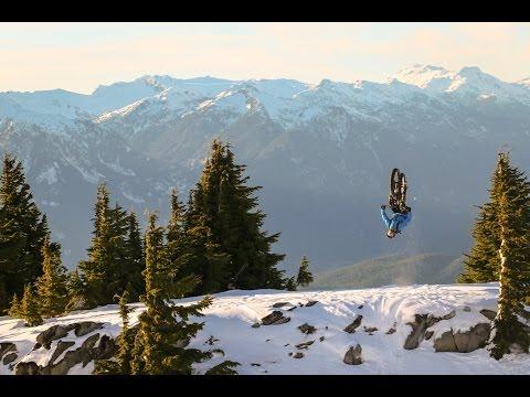 freeride sulla neve con fat bike