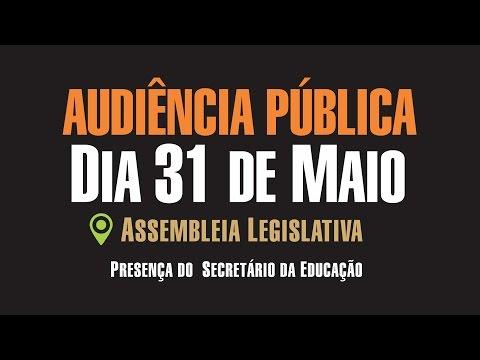Audiência Pública 31 de Maio