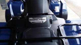7. 2016 Honda FourTrax Rancher 420 Automatic DCT 4x4 ATV - BLUE / VIDEO WALK AROUND : TRX420FA1G