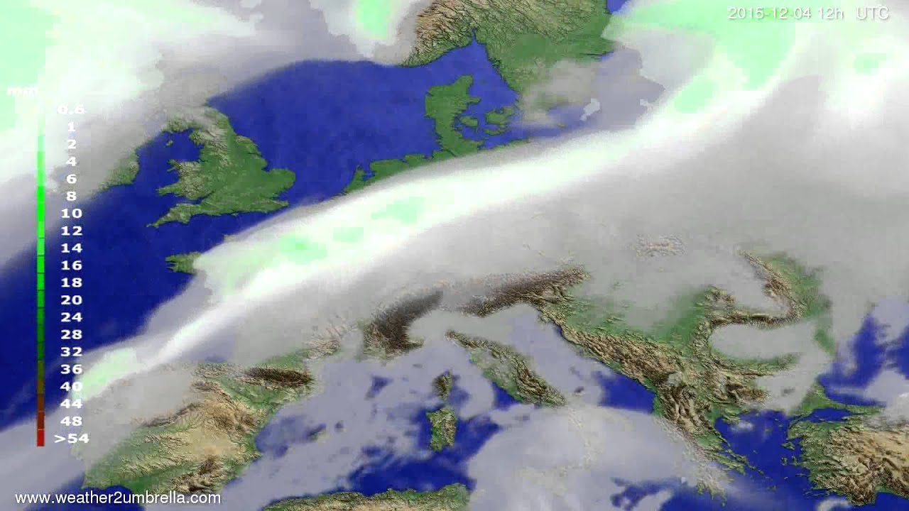 Precipitation forecast Europe 2015-11-30