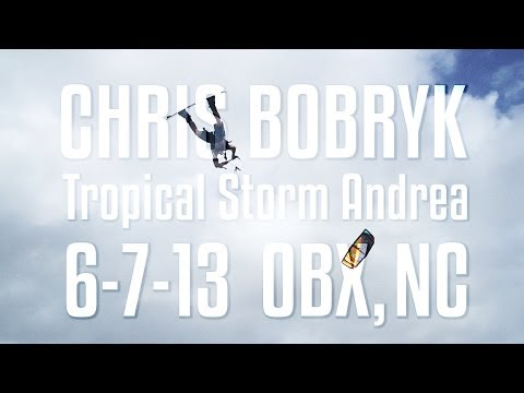 Kitesurfing News - Chris Bobryk - Tropical Storm Andrea Mega Loop Session