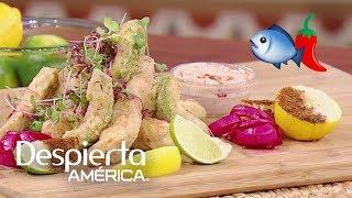 La Chef Lorena García junto a nuestro Chef Jesús nos revelaron algunos tips a tener en cuenta a la hora de preparar frituras de aguacate y cocinar pescado blanco.SUSCRÍBETEhttp://bit.ly/20L91KL Síguenos enTwitterhttps://twitter.com/DespiertaAmericFacebookhttp://facebook.com/despiertamericaVisita el sitio oficialhttp://www.univision.com/shows/despierta-america/inicio En Despierta América encontrarás, tips de belleza, recetas, invitados famosos, entrevistas exclusivas , noticias, rutinas para ponerte en forma y  mucha diversión. Karla Martínez, Alan Tacher, Satcha Pretto, Johnny Lozada, Ana Patricia y Francisca te esperan todos los días de Lunes a Viernes 7AM/6C por Univision