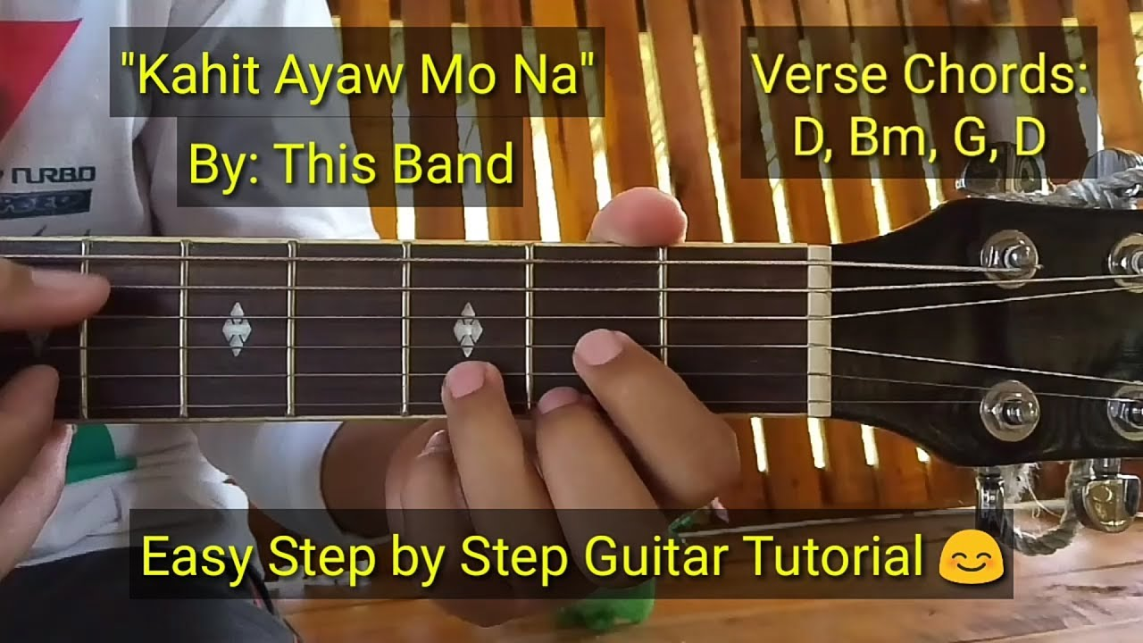Kahit Ayaw Mo Na – This Band (Guitar Tutorial)