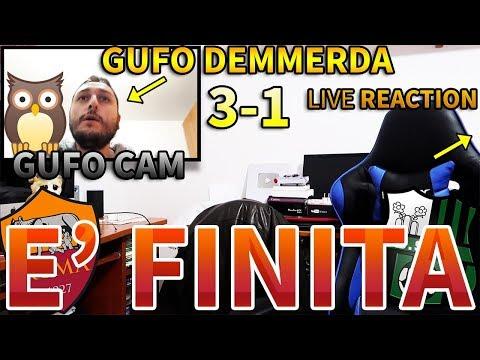 [GUFO CAM] 3-1 GUFO DEMMERDA - È FINITA. ROMA-SASSUOLO [LIVE REACTION]